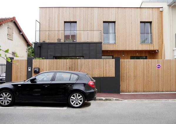 Une maison ossature bois à Suresnes