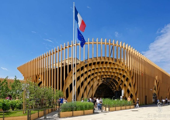Charpente d'exception : Pavillon France à l'exposition universelle de Milan