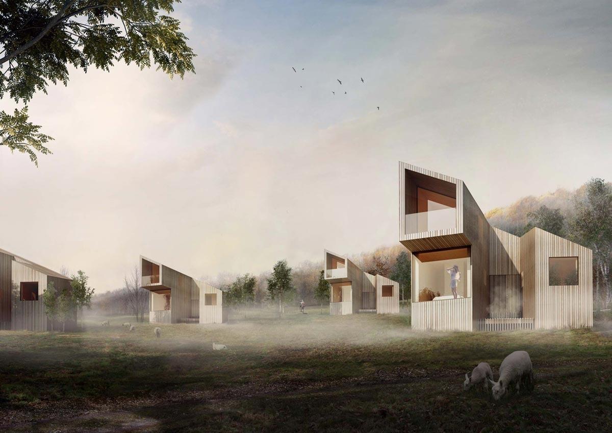 48° nord : un hôtel 100 % bois en pleine nature
