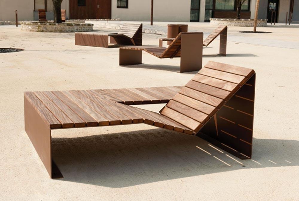 Mobilier urbain : les dernières tendances bois