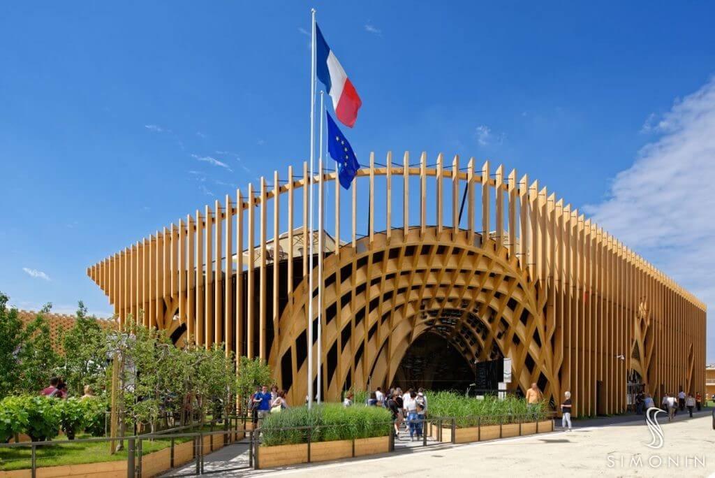 Charpente d'exception : Pavillon France à l'exposition universelle de Milan