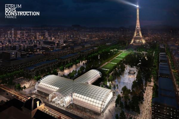 Le Grand Palais Ephémère accueillera le Forum International Bois Construction