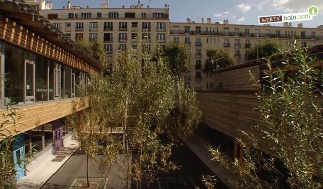 [Vidéo] Construction école Zéro énergie - Mixité bois / béton