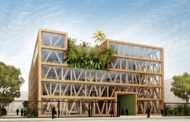 Réalisations mixtes : L'immeuble bois et verre de l'INPI Courbevoie