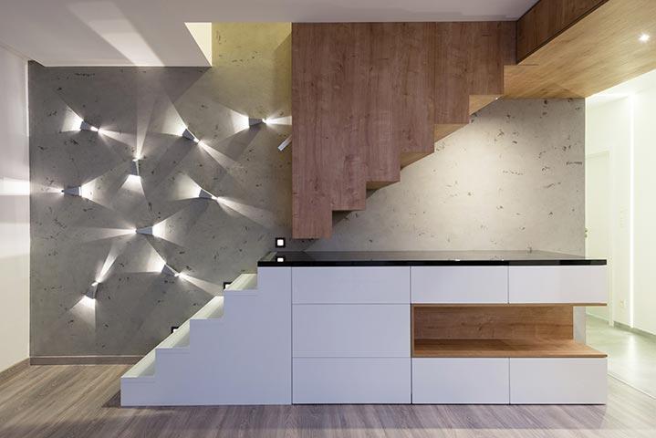Exemple d'escalier droit