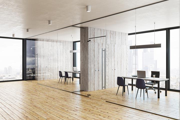 Exemple d'utilisation du bois pour des salles de réunion