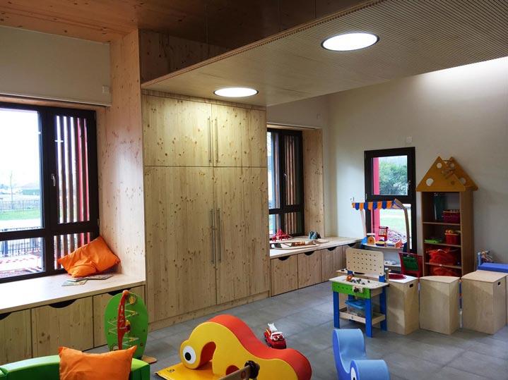Ludothèque et multi-accueil de Cluny, vue de l'intérieur (salle de jeux).