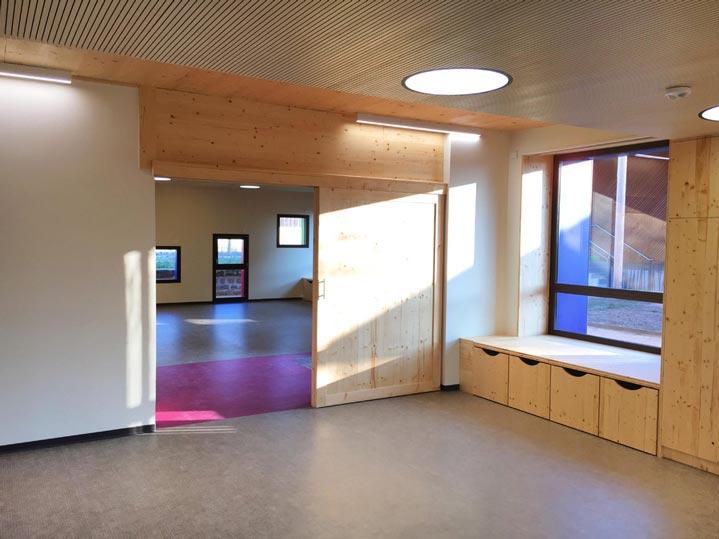 Ludothèque et multi-accueil de Cluny, vue de l'intérieur.