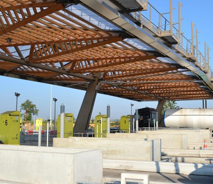 Photo de la Gare de péage de l'autoroute A1.