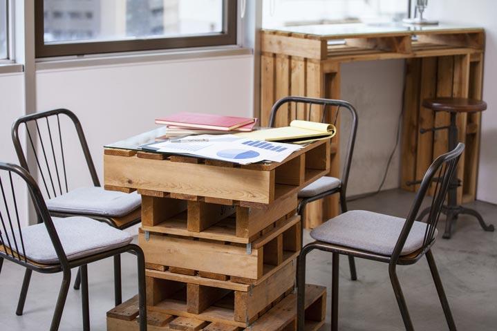 Exemples de meubles créés à partir de palettes