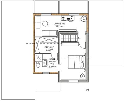 plan amenagement maison 40m2